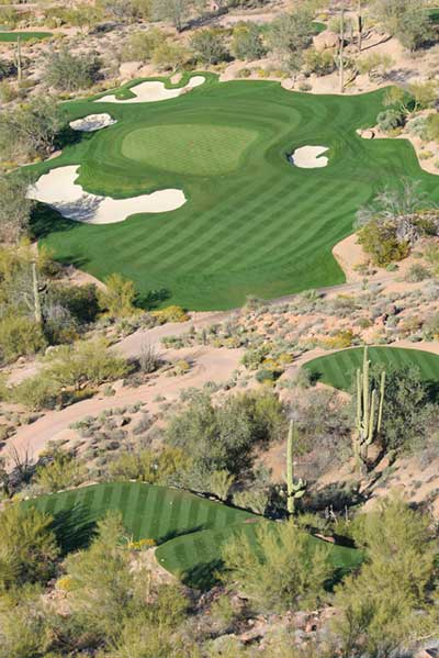 Ariel Shot Of Desert Hole